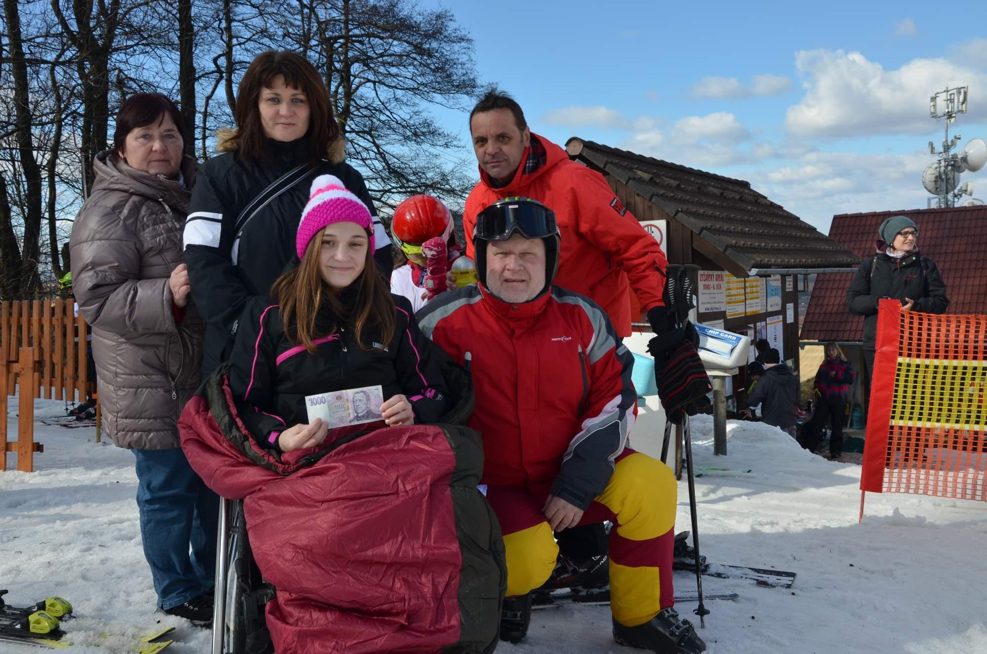 Na lyžařských závodech na Svinci
