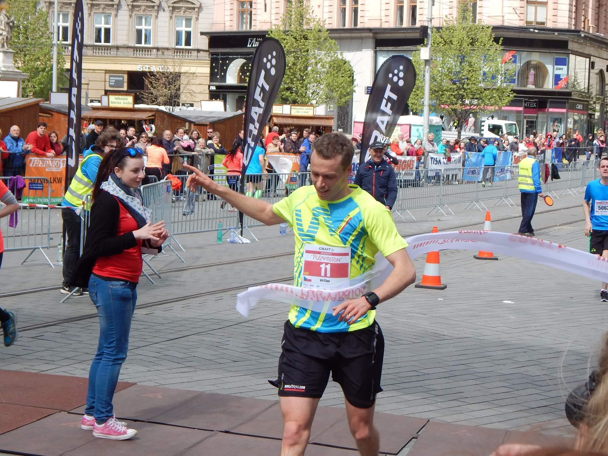Vítězem Brněnského půlmaratonu se stal Jiří Čípa Foto: Adam Lukůvka