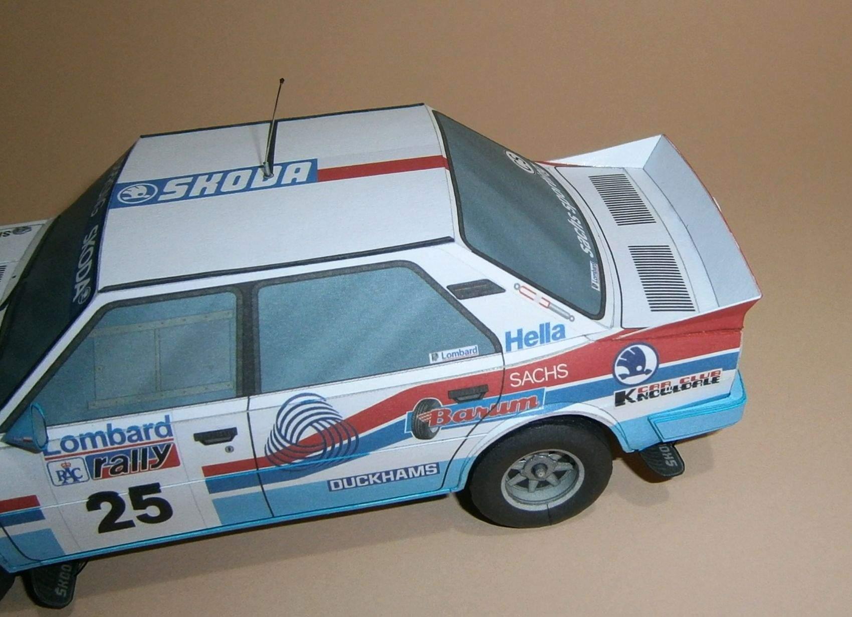 Škoda 130 LR - Křeček, RAC Rallye 1986