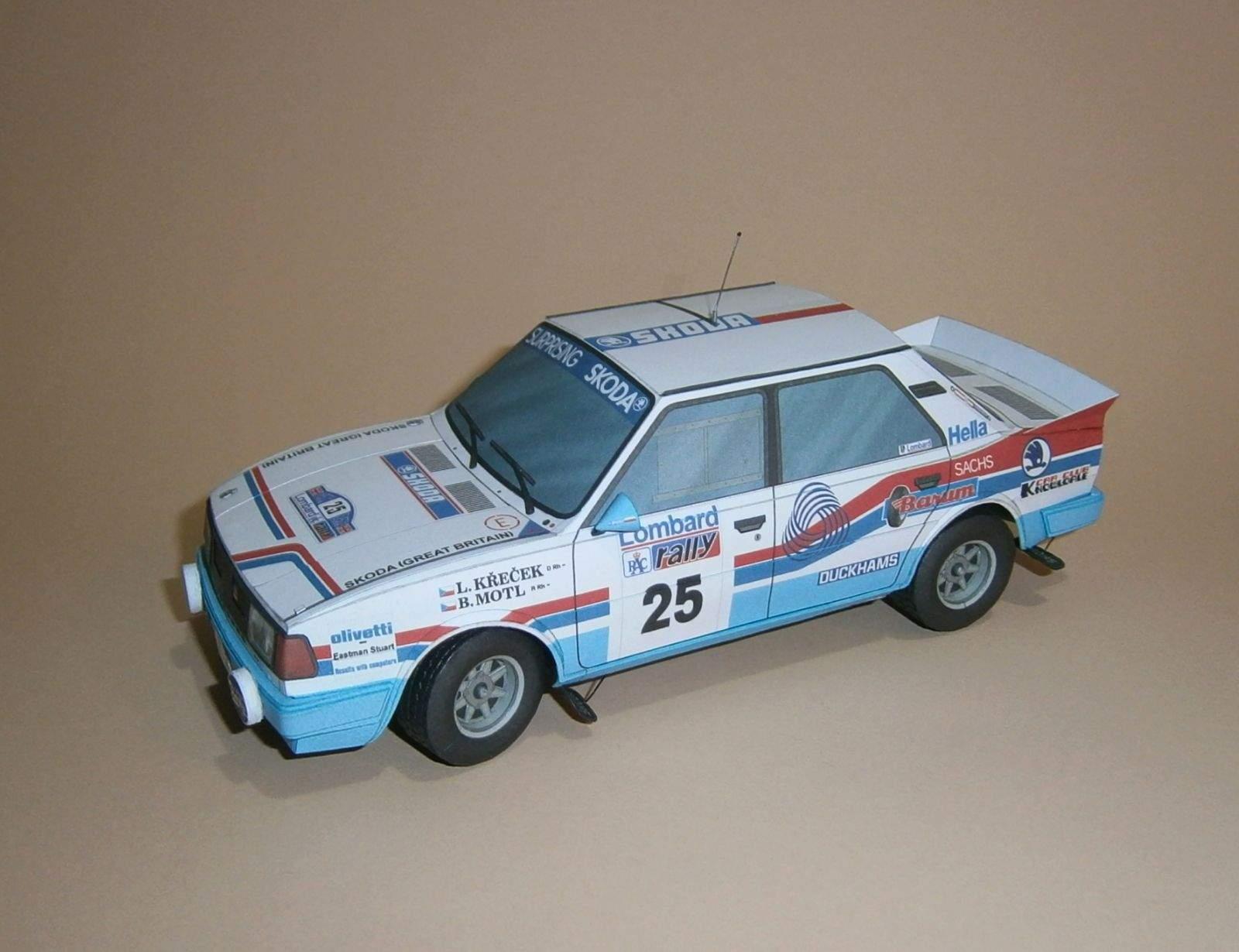 Škoda 130 LR - Křeček-Motl, RAC Rallye 1986