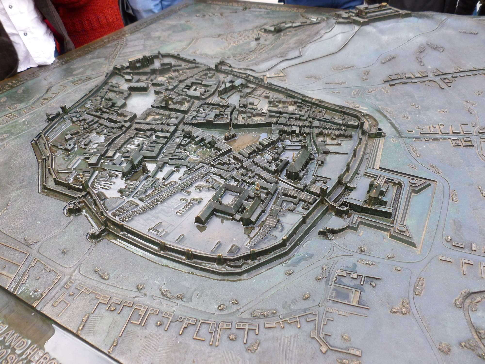Reliéfní mapa města Brna. Foto: Kristýna Hortvíková