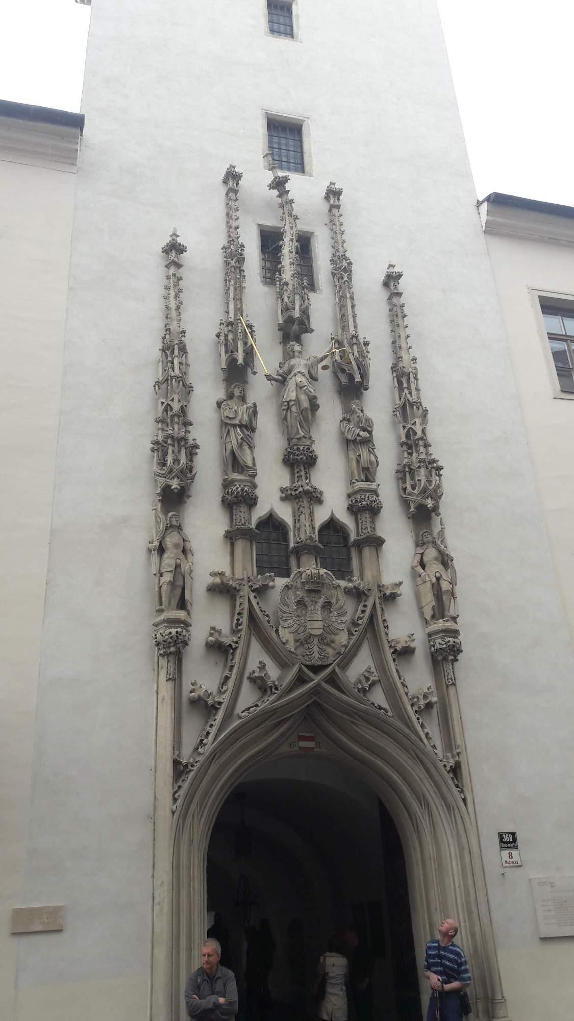 Portál Staré radnice na Radnické ulici v Brně. FOTO: Tereza Hálová