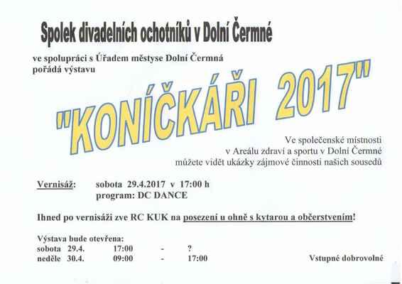 Koníčkáři - pouťová výstava 29.- 30.4.2017