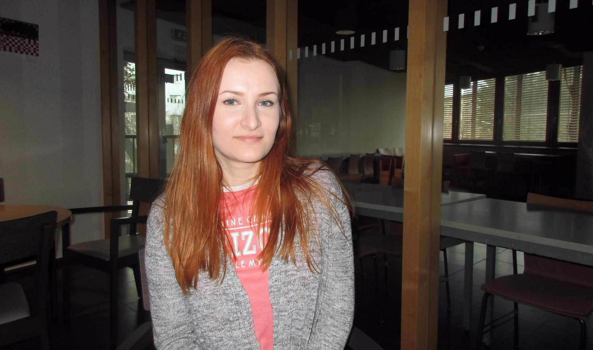 Studentka Nikola Nemjóová. Foto: Dominika Sladká