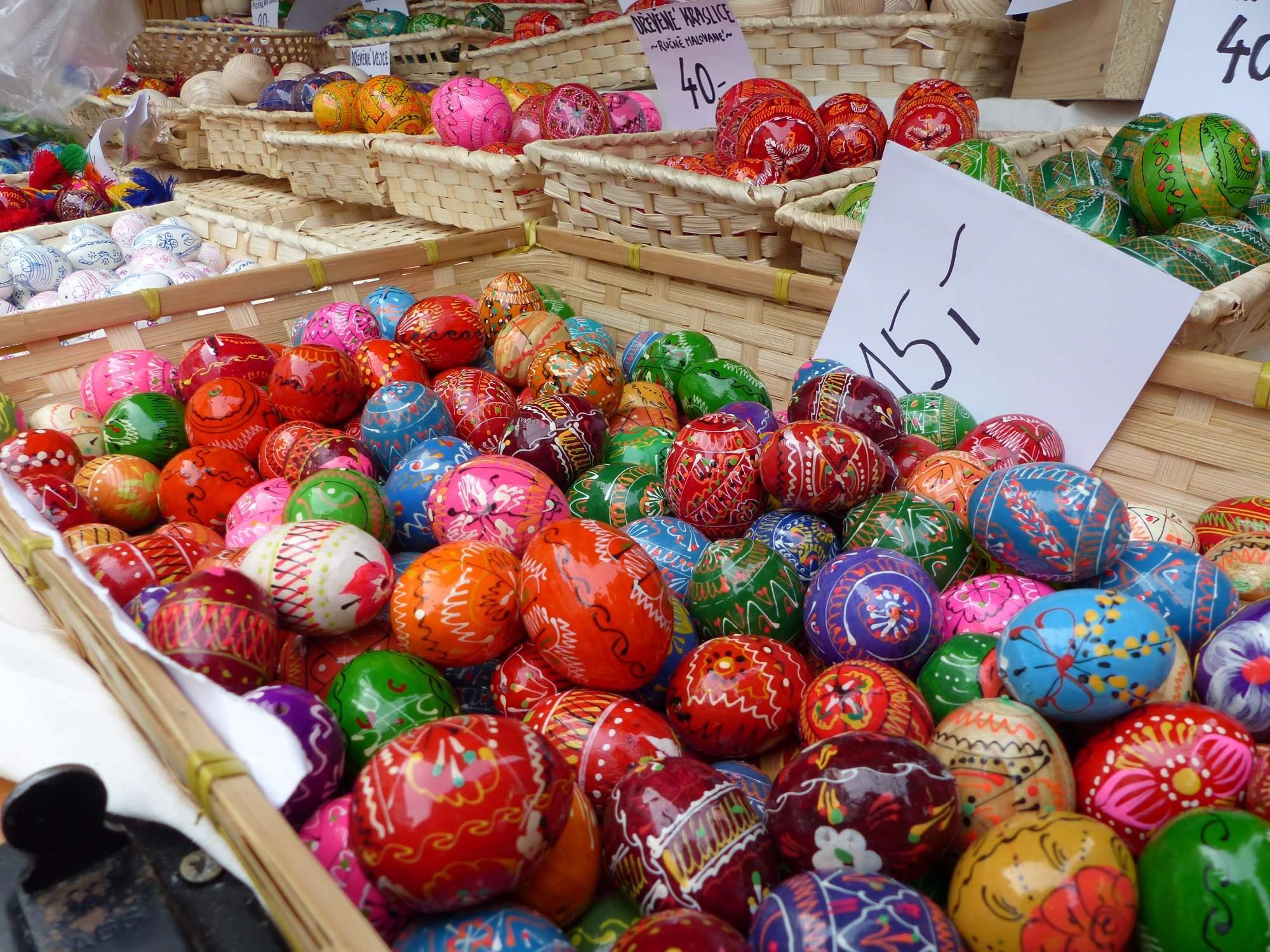 Barevné velikonoční kraslice. Foto: Stanislav Šindelka