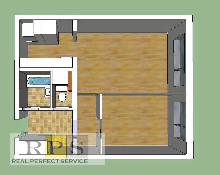 Světlý byt 1 + KK, OV, 41 m2, Praha 8 Bohnice