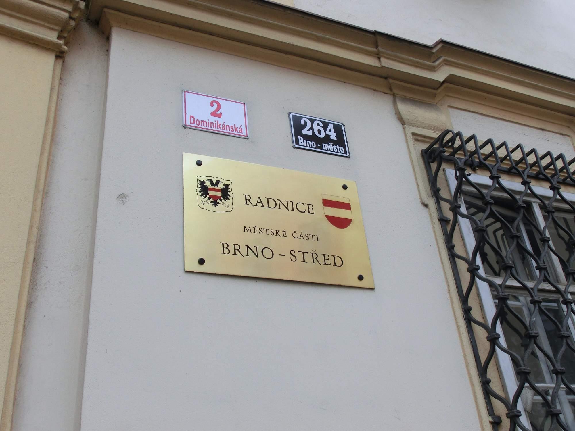 Úřad městské části Brno-střed. Foto: Sára Zedková
