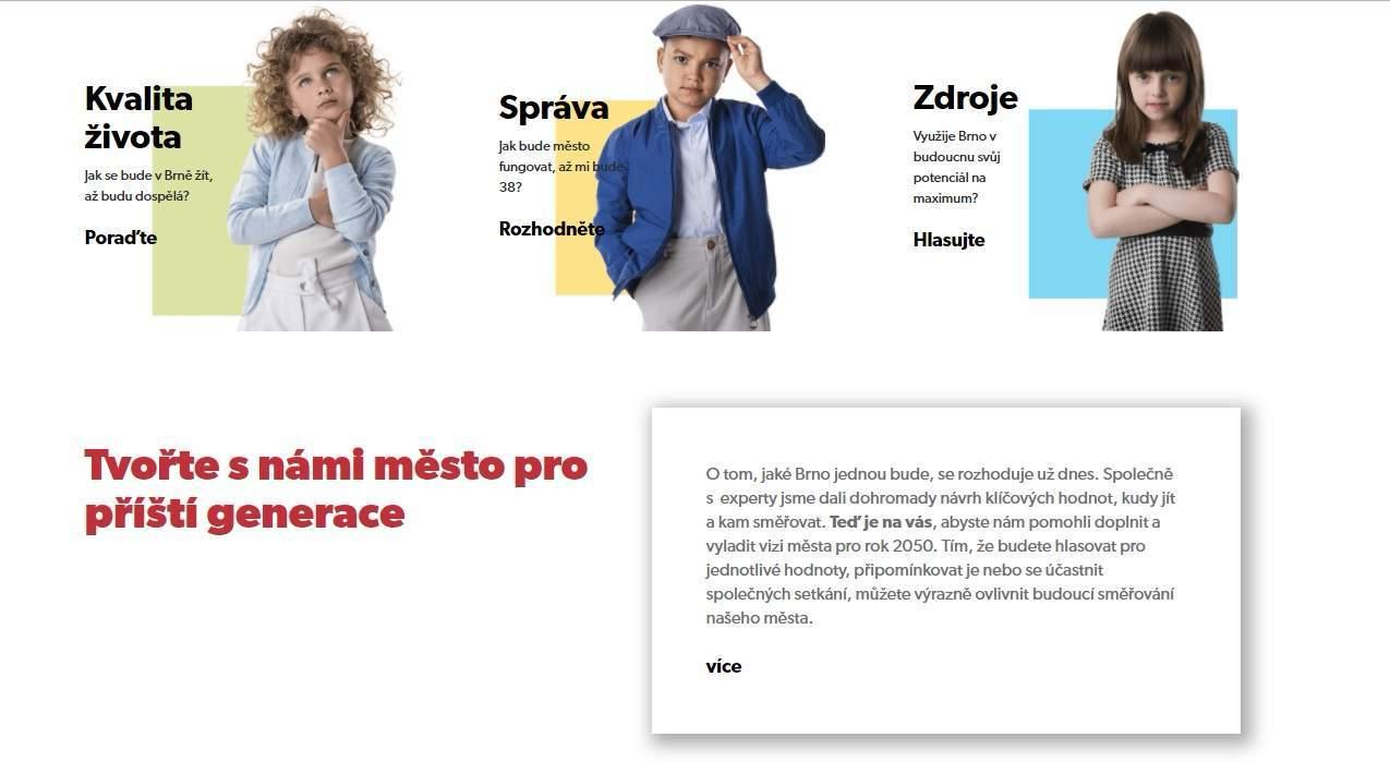 Stránka stratégie #brno2050 víta všetky názory Brňanov na budúcnosť ich mesta