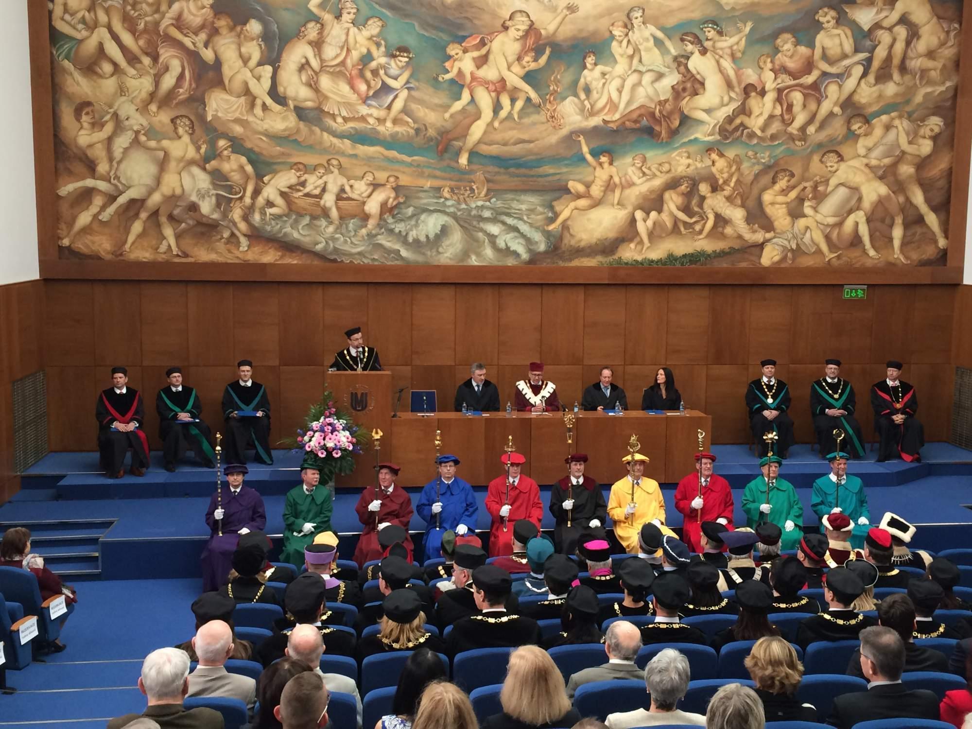 Inaugurácia nových dekanov v budove Právnickej fakulty