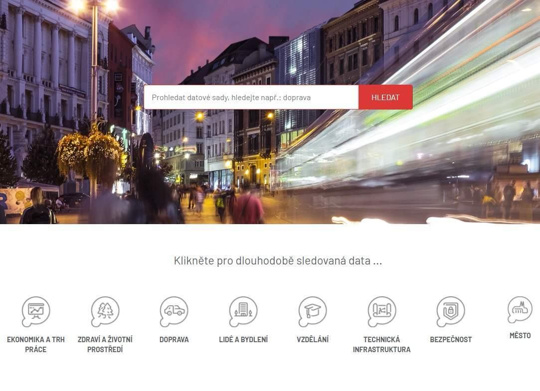 Data Brno je rozdelené do viacerých kategórií