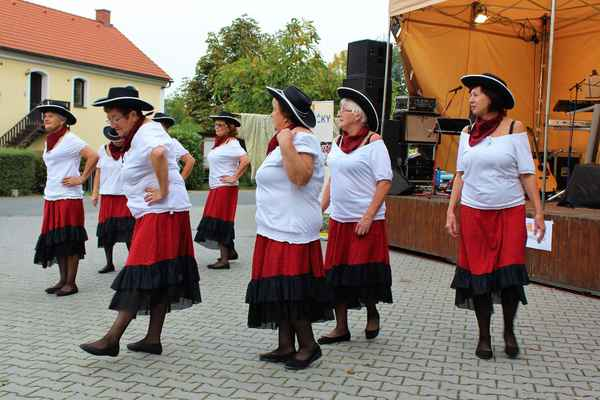 Opět taneční vystoupení našich děvčat Ú-holky (pozdní sběr)