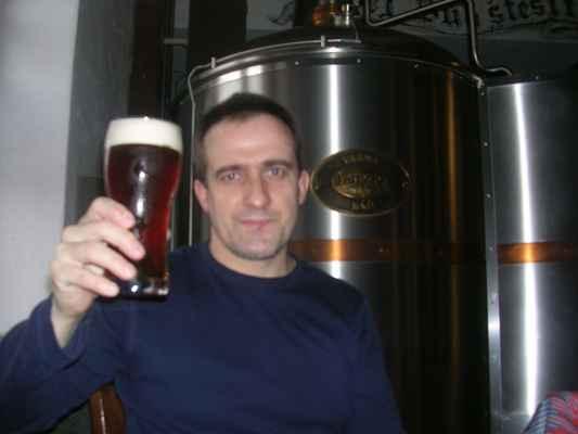 Larische polotmavý 13°, restaurace Ovečka (Karvinský pivovar) (2)