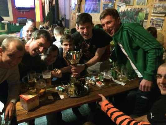 Vítězný tým slaví - Lipe Boys slaví vítězství v turnaji