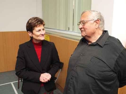 Senátorka a místostarostka Boskovic Ing. Jaromíra Vítková, Miroslav Gabriel Částek. 3. 12. 2016