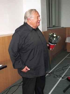 Miroslav Gabriel Částek po svém vystoupení. 3. 12. 2016