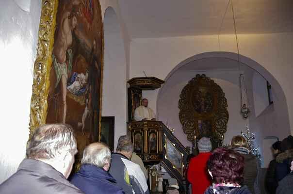 Vánoční mše svatá u nejsvětější trojice v Kladrubech a vystoupení babského souboru z Poříčí