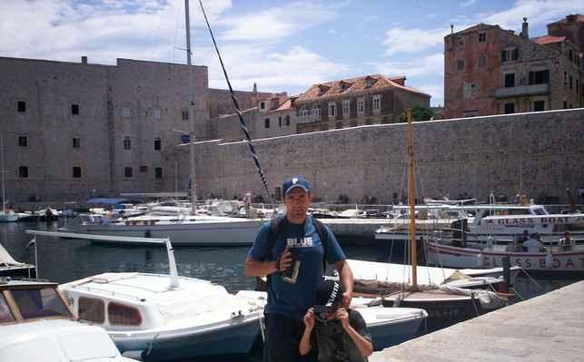 Dubrovník - přístav, Chorvatsko.