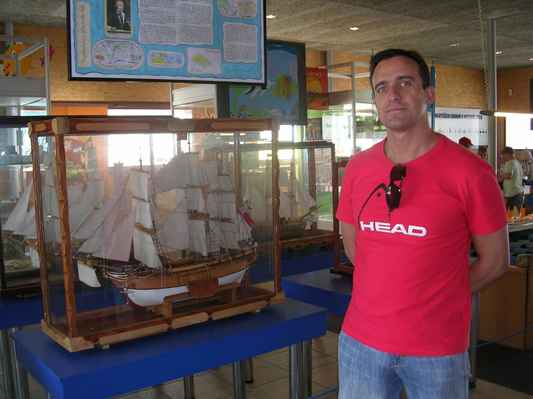 Svět miniatur Miniuni na Výstavišti Černá Louka v Ostravě. Dřevěný model lodi BOUNTY.