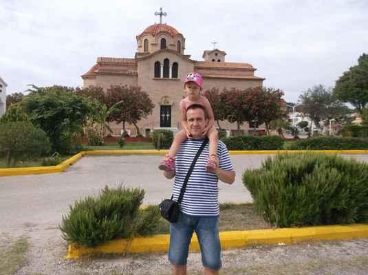 Kostel Svatého Nektaria, Faliraki, Řecko.