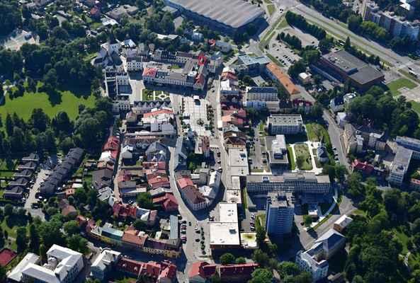 Na Bečkách, Karviná - Fryštát - Pivnice je označena červenou barvou (kolečko)