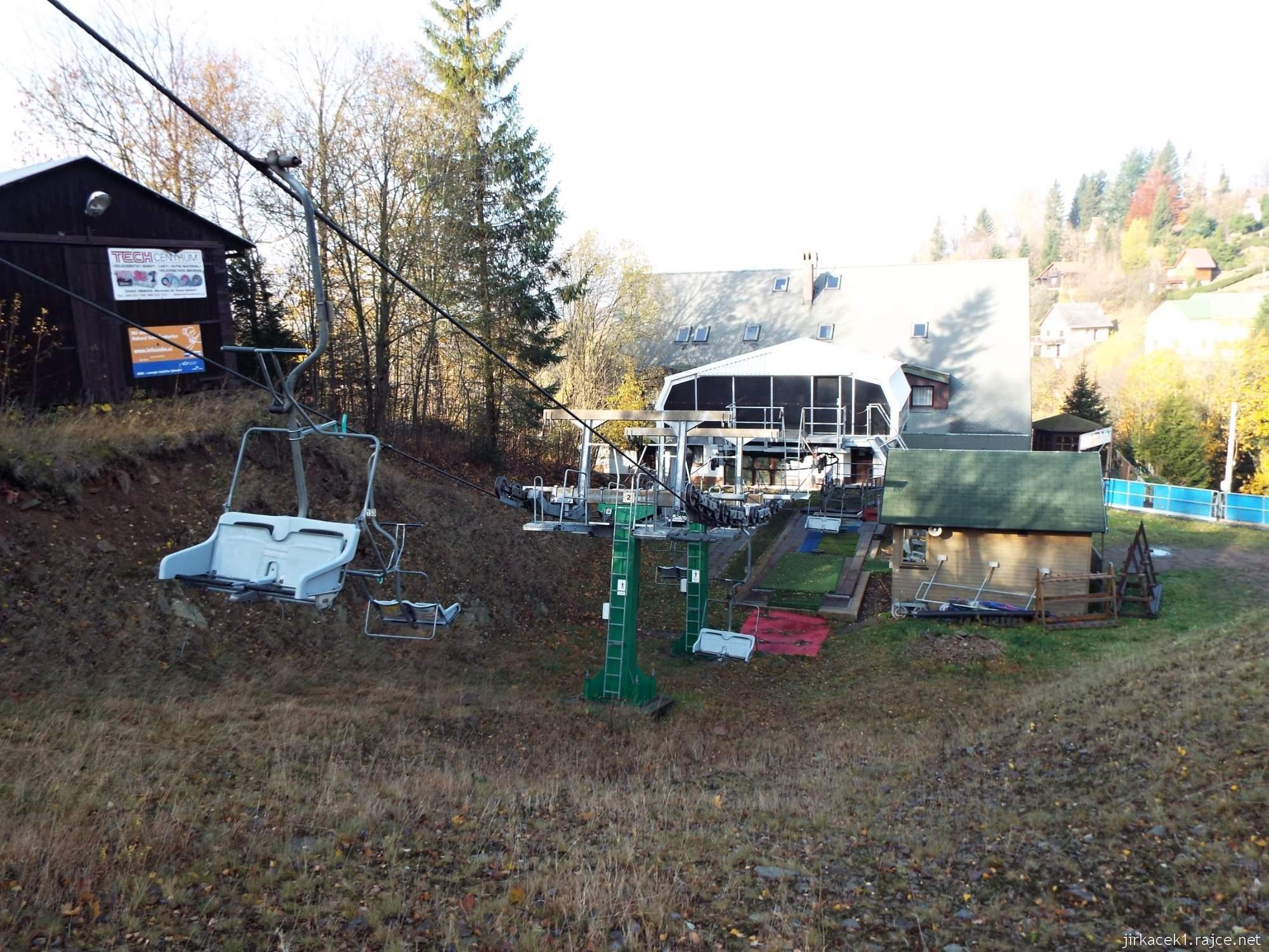 Čenkovice - lyžařský ski areál - dolní stanice lanovky