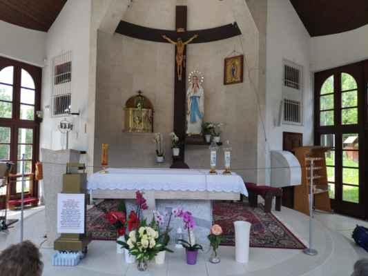 Interiér kaple Panny Marie na Živčákové