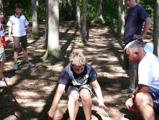 Skok do dálky - První disciplína olympiády, skáče Standa Kočár