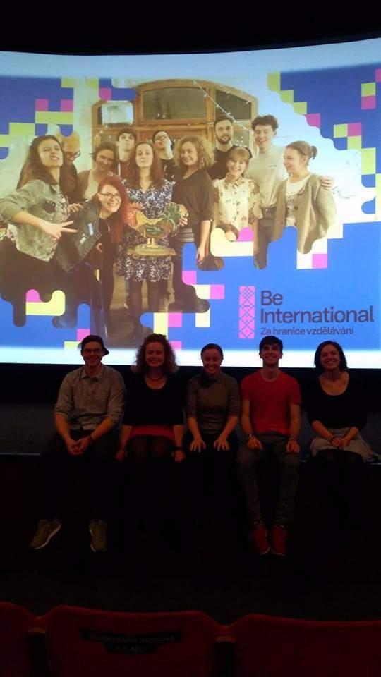 Organizační tým Be International na přednášce Erasmus Marasmus