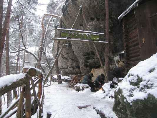 Další zimní ráno u ohně - fotka od Zdeňka