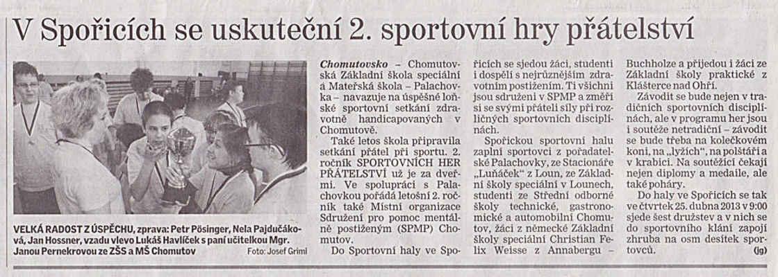Chomutovský deník 25. 4. 2013
