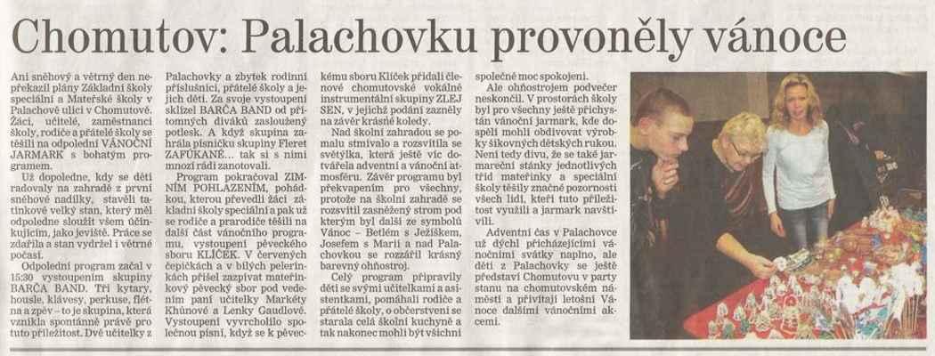 Chomutovský deník 19. 12. 2013