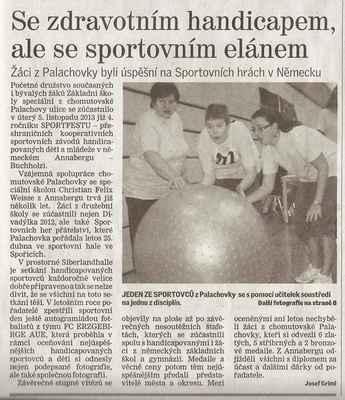 Chomutovský deník 22. 11. 2013 ... 1. část